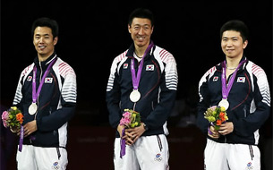 Korean Men's Team Grabs Silver in Table Tennis