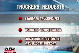 Korean Truck Drivers Launch Walkout on Monday