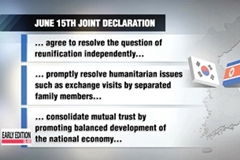 N. Korea suggests joint commemoration of June 15th declaration