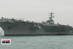 U.S. aircraft carrier arrives in Busan