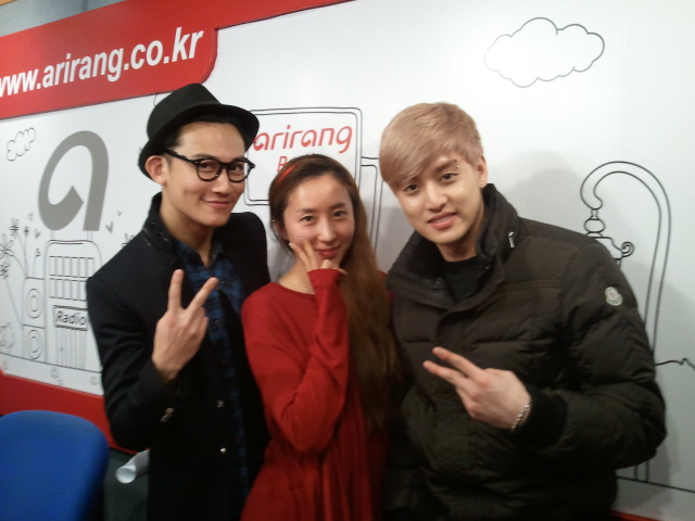 DJ SeeAn and the talented AJ and Eli of U-Kiss!